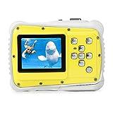 子供カメラ トイカメラ キッズカメラ 3m防水機能 12MP画素 耐衝撃性 録画機能 マイク内蔵 日本語説明書 多種言語対応 かわいい 子供用デジタルカメラ 子供プレゼント(イエロー+ホワイト, BO-CAMR01)