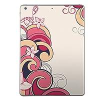iPad Air スキンシール apple アップル アイパッド A1474 A1475 A1476 タブレット tablet シール ステッカー ケース 保護シール 背面 人気 単品 おしゃれ フラワー 花 ピンク イラスト 005052