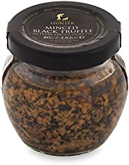 Minced Black Truffle Large (2.82 Oz) by TruffleHunter - Preserved in Extra Virgin Olive Oil - Vegan, Vegetarian, Kosher and