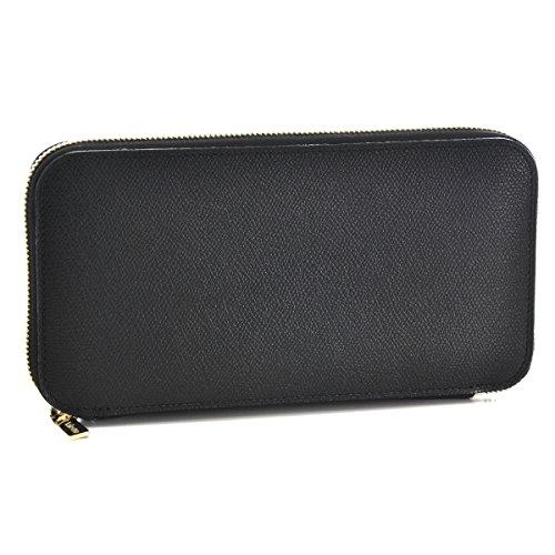 Valextra(ヴァレクストラ) 財布 メンズ グレインレザー ラウンドファスナー長財布 ブラック V9L21-028-000NOC [並行輸入品]
