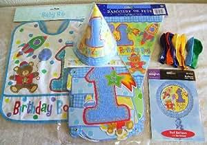 1歳誕生日バルーン&パーティーセット 男の子用