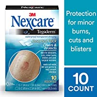 3M Nexcare Tegaderm Transparent Dressing, 10 Count by Nexcare