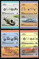 F1・NASCARなど自動車の切手 ベキア島1985年8種完 アルファロメオ、クラシックカー