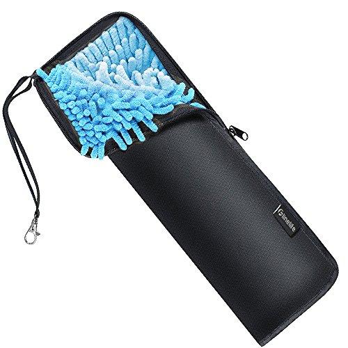 折りたたみ傘 カバー,Flinelife 2面超吸水 傘ケース 防水軽量シンプル 折り畳み傘 カバー 付き 携帯便利 折り畳み傘袋 ロング 38 cm