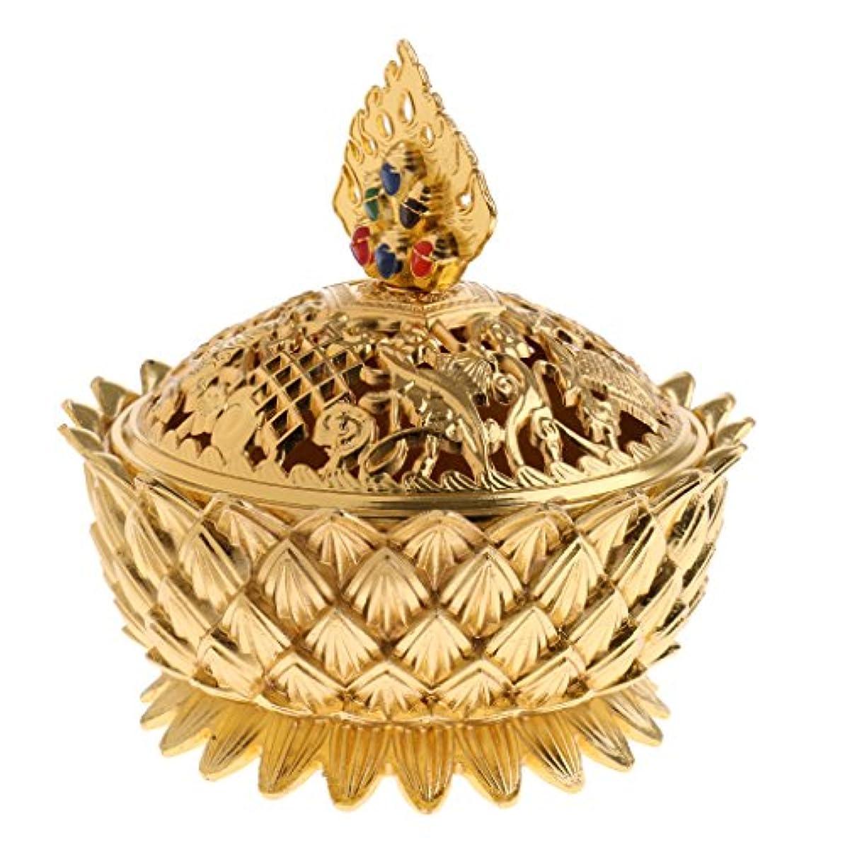 信じられない暴動こどもの宮殿チベット ロータス 合金 煙 香りバーナー コーン 香りホルダー 香炉 家 装飾 全3選択 - #1