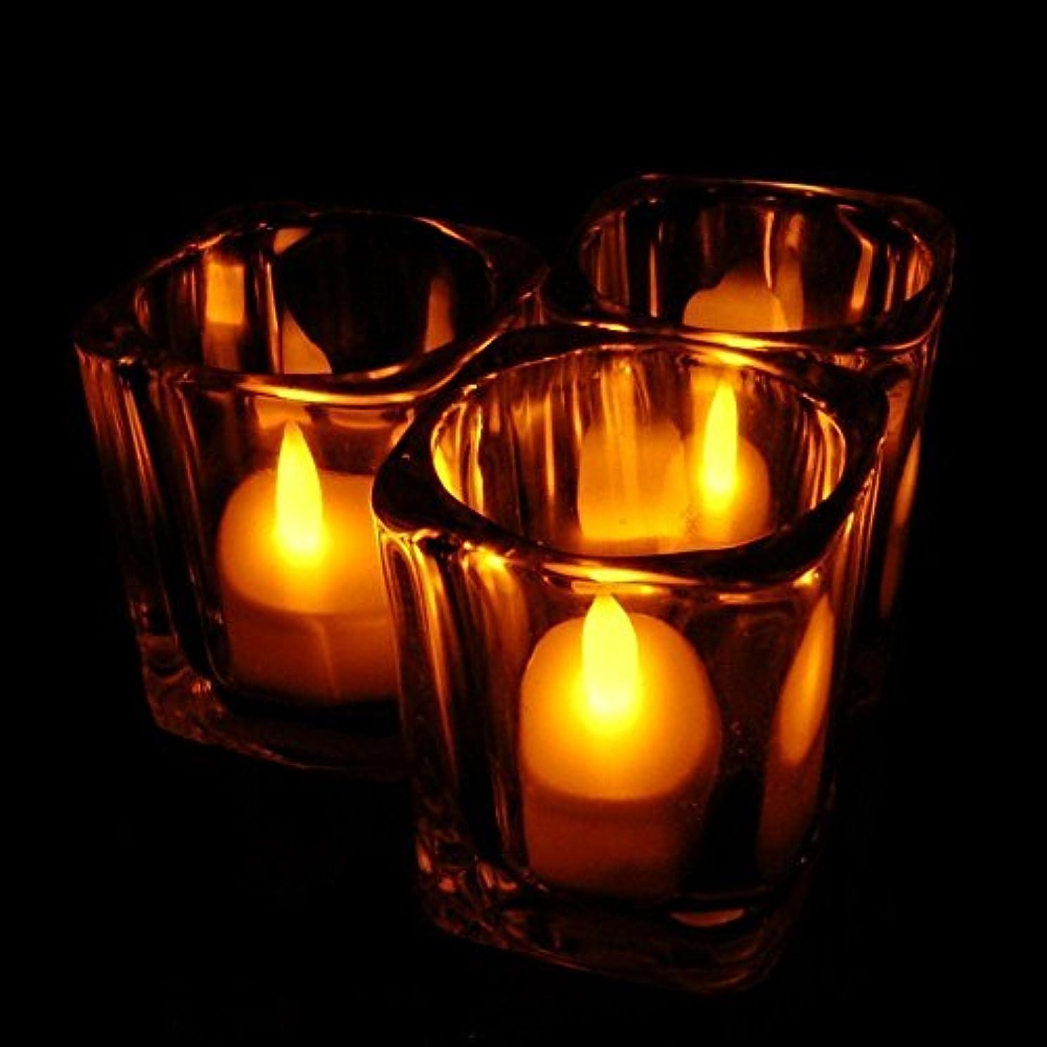 ハウス分散拡散するホット24ピースledティーライトキャンドルhouseholed velas ledバッテリ駆動フレームレスキャンドル教会とホームdecoartionと照明