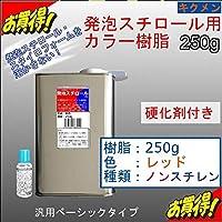 キクメン FRP発泡スチロール用カラー樹脂250g【赤】硬化剤付き 汎用ベーシック