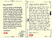 Quiplip Handwritten Yours Truly Birthday Cards 6-Pack (YT10166PCK) [並行輸入品]