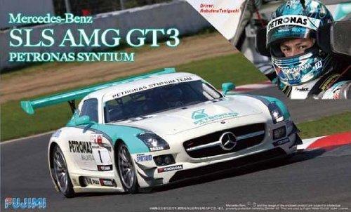 フジミ模型 1/24 リアルスポーツカーシリーズSPOT-No.1 メルセデスベンツSLS AMG GT3 PETRONAS SYNTIUM 1/8スケール完成塗装済 ヘルメット付