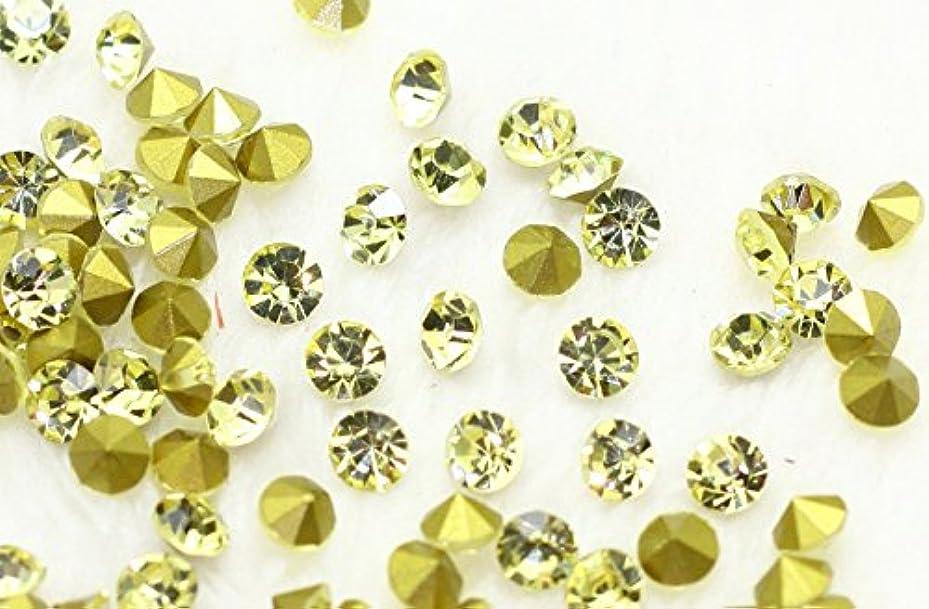 縫い目宣言フォーカスガラス製 Vカットストーン(埋込型)ジョンキル 各サイズ選択可能 (1.6mm (SS4) 約1440粒) [並行輸入品]
