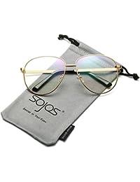 SojoSソホスパイロットのスタール、メダルワークのファンションの女性用平光のメガネ SJ5004