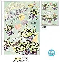 トイストーリー エイリアン / ディズニー B5 クラフト ノート 6.5mm罫 日本製 88405