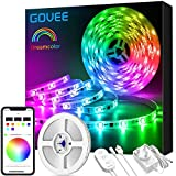 DreamColour LED Strip Lights, Govee 5M Music Sync Phone Controlled Lighting Strip Kit, Waterproof Colour Changing Rope Light for Party Room Bedroom TV Kitchen Cabinet Decoration