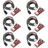 SODIAL 6pcs Endstop Limit Mechanical End Stop Switch W/ Cable for CNC 3D Printer RAMPS