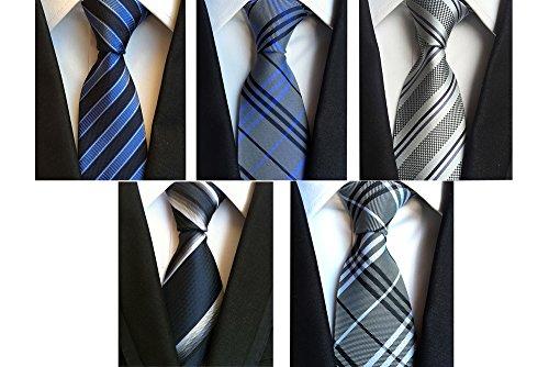 Yubier ネクタイ 5本セット ビジネス用