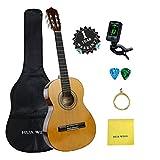 クラシックギター 初心者 入門 セット アコースティック Hua Wind チューナー ナイロン弦 36インチ 3/4サイズ