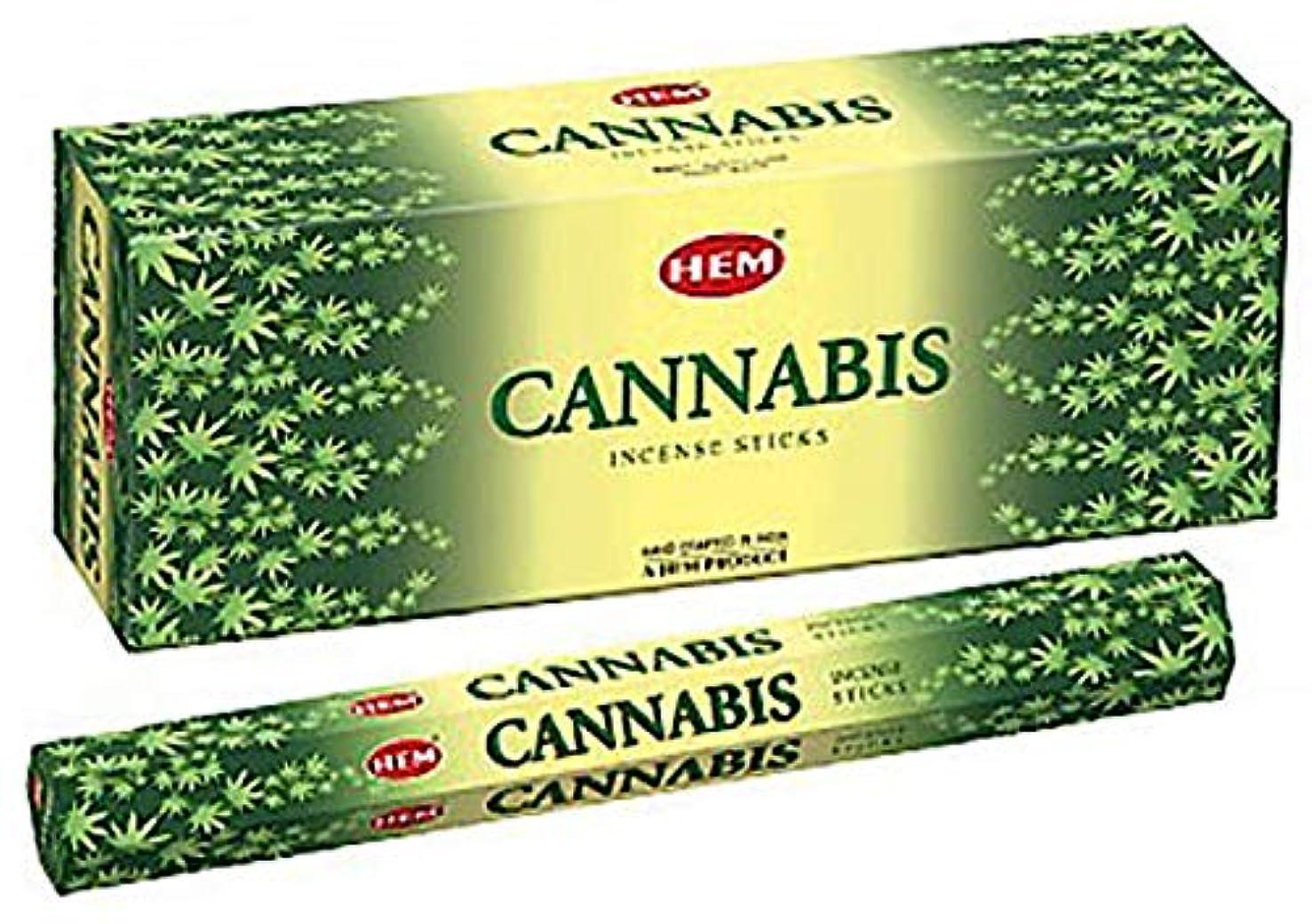崇拝する流産提案HEM お香 大麻 20グラムのチューブ6本のボックス