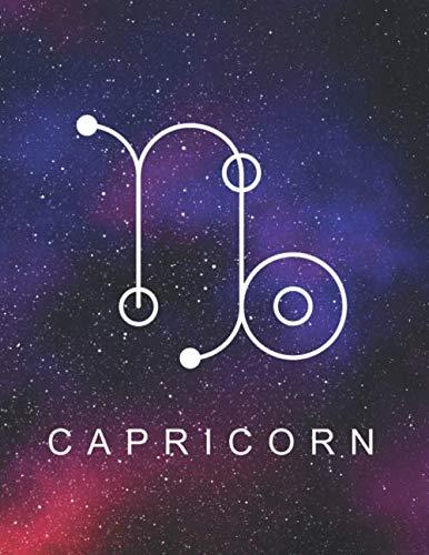 [画像:Capricorn: Zodiac Star Sign Large Notebook (8,5 x 11) Inspirational journal for Astrology Lovers, Constellation Notepad with your Horoscope and Star Map -120 wide college ruled pages, personalized gift idea]