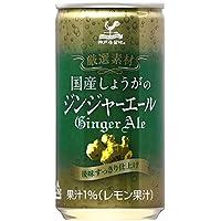 神戸居留地 厳選素材国産しょうがのジンジャーエール 缶 185ml×20本