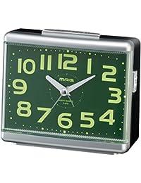 MAG(マグ) 置き時計・掛け時計 銀メタリック (約)高さ10.5×幅13.4×奥行き6.0cm