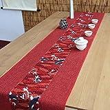 テーブルランナー ホームデコレーション 北欧 工芸品 刺繍 おしゃれ 結婚式 パーティー 芸術 民宿 民族スタイル (Color : Red, Size : 30*150cm)