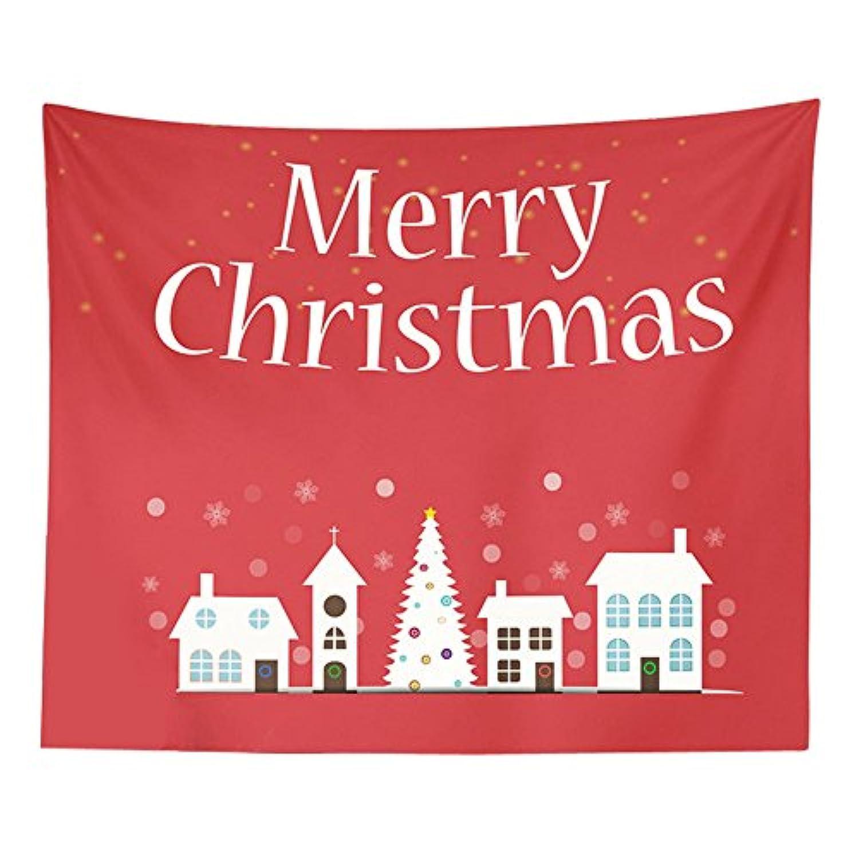(プタス)Putars クリスマス タペストリー ビーチマット 壁掛け テーブルクロス MERRY CHRISTMAS 個性的 可愛い オシャレ ヨガマット レジャーシート ビーチ用ブランケット インテリア 151