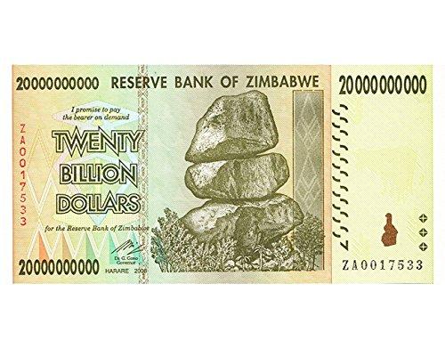 200億 ジンバブエドル ハイパーインフレ紙幣 20,000,000,000ジンバブエドル 200億ドル