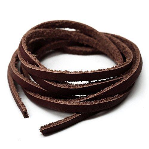 [해외]가죽 100cm | 가죽 코드 | 폭 3mm | 예용 | 목걸이 | 브라운 | 가죽 끈 | 끈 | 끈 | 진한 갈색 (solid-vvain109)/Genuine leather 100cm | Leather cord | Width 3mm | For handicraft | Necklace | Brown | Strap | Thong | Pimp | Dark brown (sol...