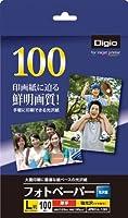 ナカバヤシ 写真用紙 フォトペーパー 光沢紙 L判 100枚 超厚手・強光沢 JPEC-L-100