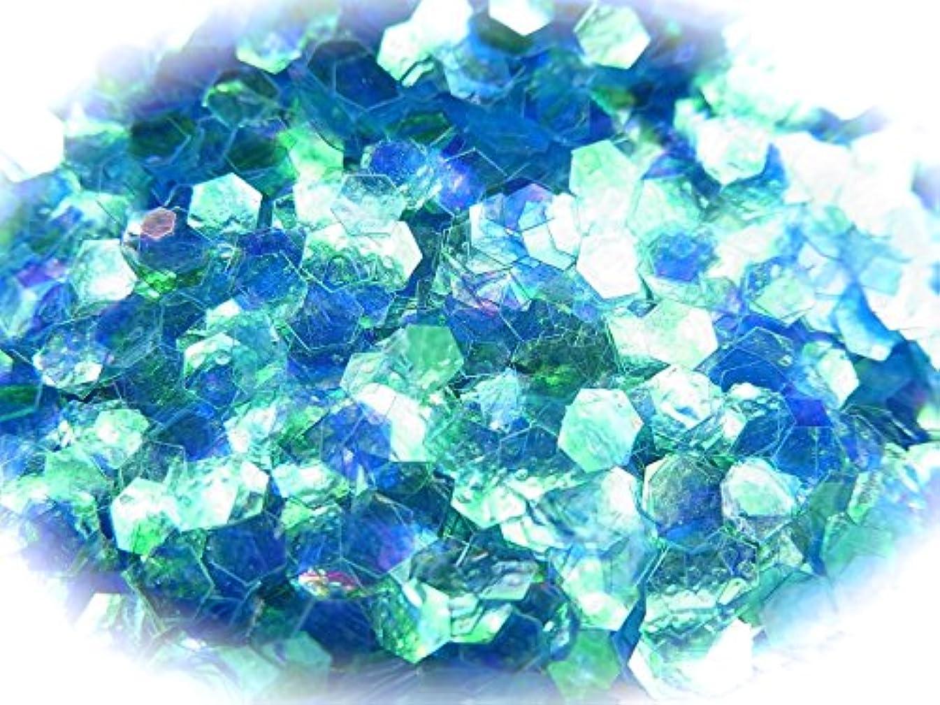ジョットディボンドンショットマトリックス六角ホログラム 2.5mm 0.5g 選べる20色 (アクアマリン)