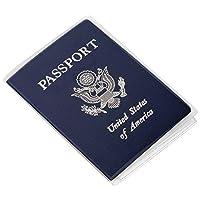kesotoパスポートカバープロテクターケースクリアプラスチックビニールIDカードホルダー、パックの5