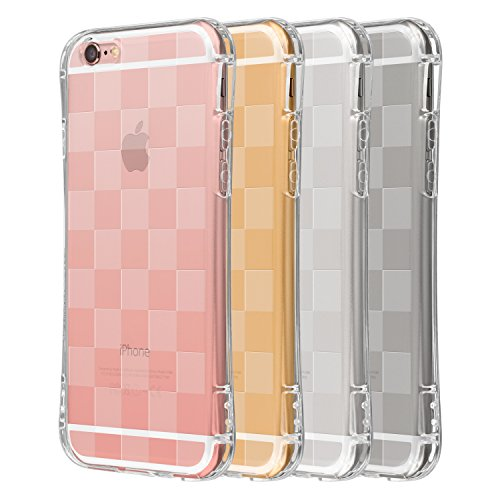Highend berry amazon限定 iPhone6s / iPhone6 4.7インチ 落下防止 用 ストラップ ホール 保護キャップ 一体型 ソフト TPU ケース Arc チェッカード クリア