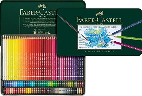 ファーバーカステル アルブレヒト デューラー水彩色鉛筆セット 120色 缶入 117511 [日本正規品]