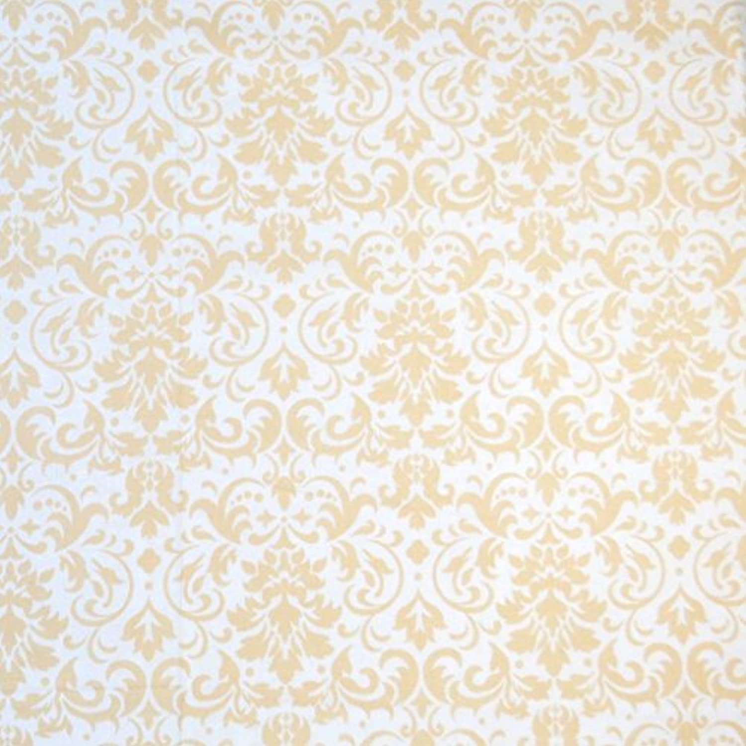 SheetWorld Fitted Basket Sheet - Cream Damask - Made In USA by sheetworld