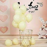 風船 マカロンバルーン 10インチ 黄色い風船 100個セット ラテックスバルーン パーティー お誕生日会 結婚式 二次会 祝い日 卒業会 飾り付け