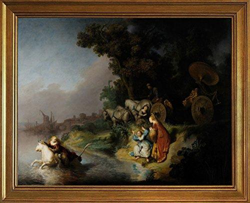 フレーム Rembrandt Harmenszoon van Rijn ジクレープリントキャンバスプリント絵画ポスター複製(エウロパの拉致)