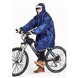 レインコート ポンチョ メンズ レディース ネイビー サファイア フクシア 自転車 チャリ 法改正 傘 生涯保証付き tohoinfinity オリジナルエコバックセット (サファイア)