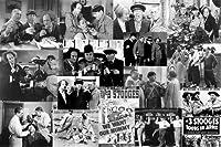 """Three Stooges–Movieコラージュ24"""" x36""""アートプリントポスター"""
