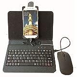MIRAIS スマホ キーボード ケース マウス Android OTG スマートフォン パソコン PC (ブラック) MR-SMANOTE-BK