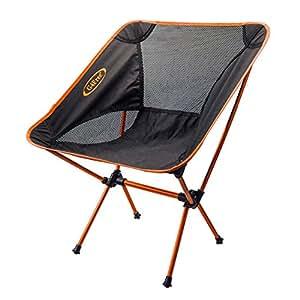 [G4Free] アウトドア 軽量 チェアワン ウルトラライト チェア 登山 釣り用 (Orange)