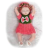 NPKDOLLシミュレーションRebornベビー人形ソフトSiliconeビニール18インチ45 cm Lifelike Vivid Toy Boy Girlレッドグリーンドレス目閉じ