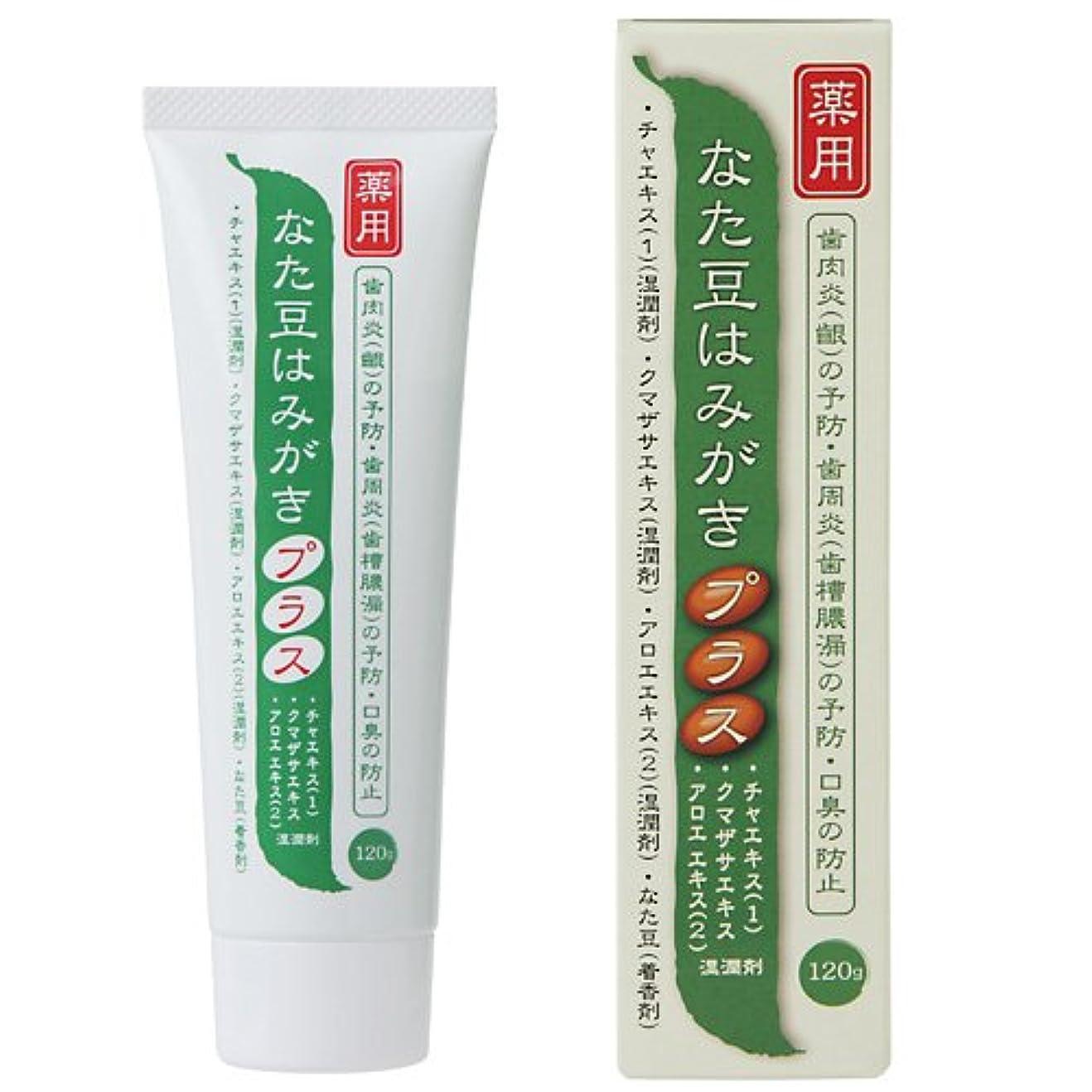 自治報復もしプラセス製薬 薬用なた豆歯磨き プラス 120g