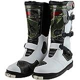 クロスカントリーブーツ レーシングブーツ/バイク用レーシングブーツ バイク用靴/バイク用ブーツ 42(26-26.5cm約) ホワイト
