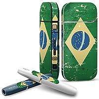 IQOS 2.4 plus 専用スキンシール COMPLETE アイコス 全面セット サイド ボタン デコ ブラジル 外国 国旗 011614