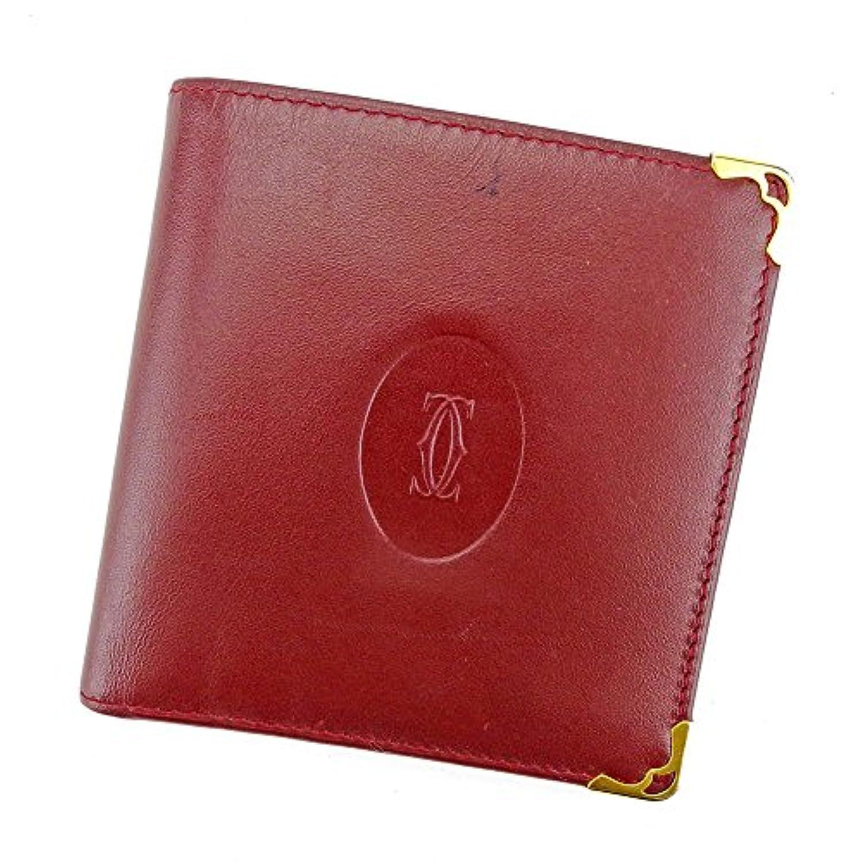カルティエ Cartier 二つ折り 財布 レディース メンズ 可 マストライン 中古 T4061