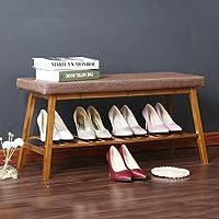 シューズラック- 竹の靴のスツールのドアの靴のストレージスツールのベッドサイドテールのベンチのドアの靴の靴のスツール (サイズ さいず : 90cm)