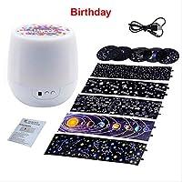 カラフルなスタープロジェクター夜光回転星月光Usb充電誕生日ギフトロマンチックな赤ちゃん子供誕生日