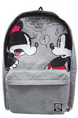 【Disney】 ディズニー リュック サック デイバッグ スウェット素材 + ミニタオル セット (A ミッキー&ミニー )