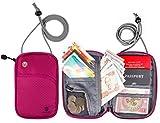(バッグスマート)BAGSMART パスポートケース スキミング予防対策 海外旅行グッズ セキュリティ 貴重品入れ ネックポーチ IDカードケース 防犯用品 iPhone 6S Plus収納可 14ポケット搭載 バレンタイン プレゼント ギフト