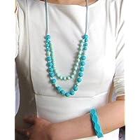 A L L U R E silicone teething necklace + bangle set BPA free FDA compliant food grade silicone by AllureEveryday